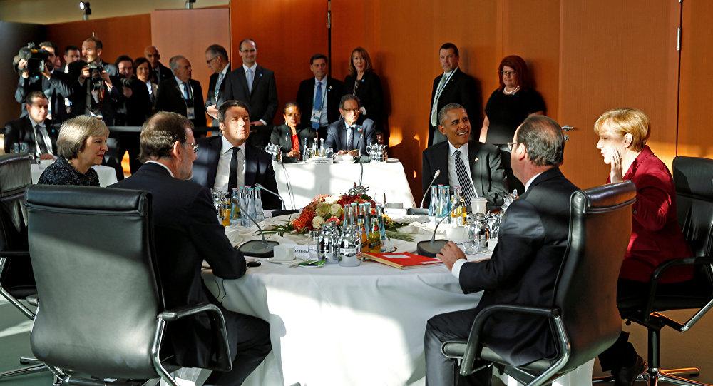 El encuentro de Barack Obama con los líderes europeos en Berlín