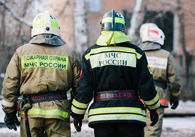 Los bomberos rusos