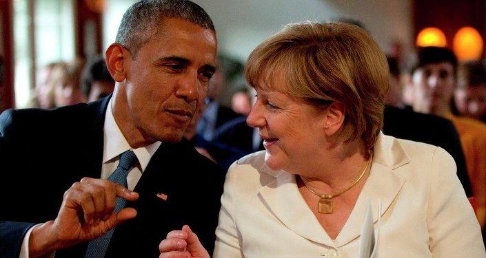 Angela Merkel y Barack Obama durante la cumbre del G7