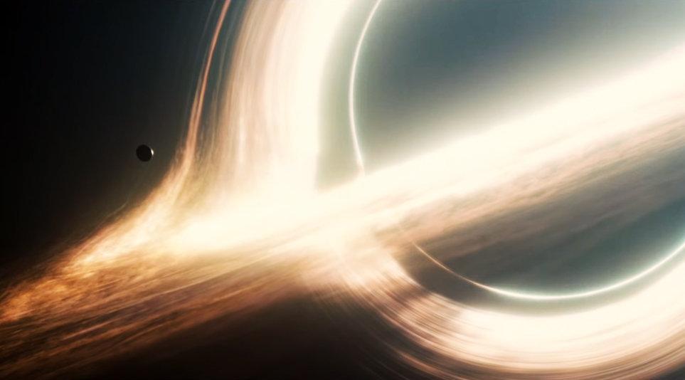 Visualización de Gargantua, el agujero negro mostrado en la película 'Interestelar'.