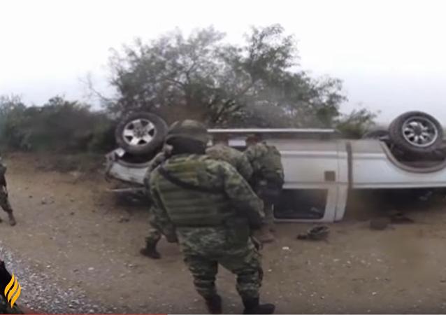 Impactante cruce de balas en México