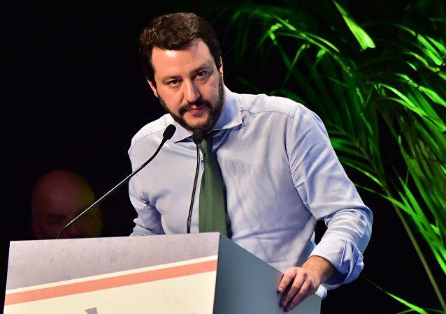 Matteo Salvini, vice primer ministro y titular del Interior de Italia