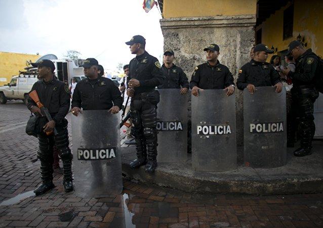 Los policías colombianos
