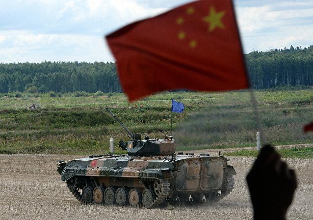Un vehículo blindado chino