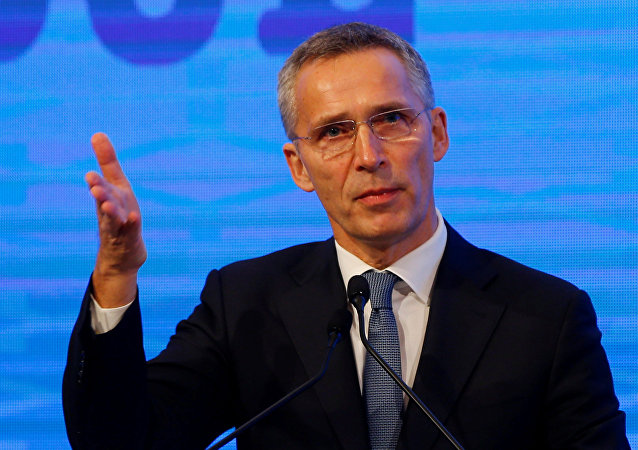 NATO Secretary-General Stoltenberg speaks during the NATO Parliamentary Assembly 62nd Annual Session in Istanbul,