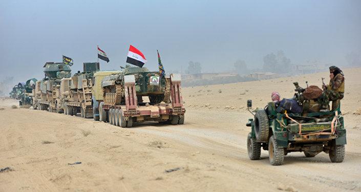 Las fuerzas iraquíes cerca de Mosul