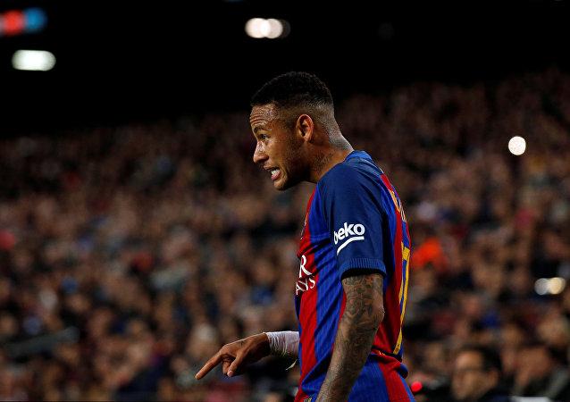 El brasileño Neymar, delantero del Barcelona FC