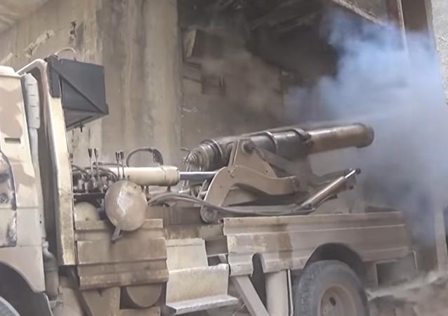 Los yihadistas probaron contra las tropas gubernamentales de Siria un cañón del siglo XIX.