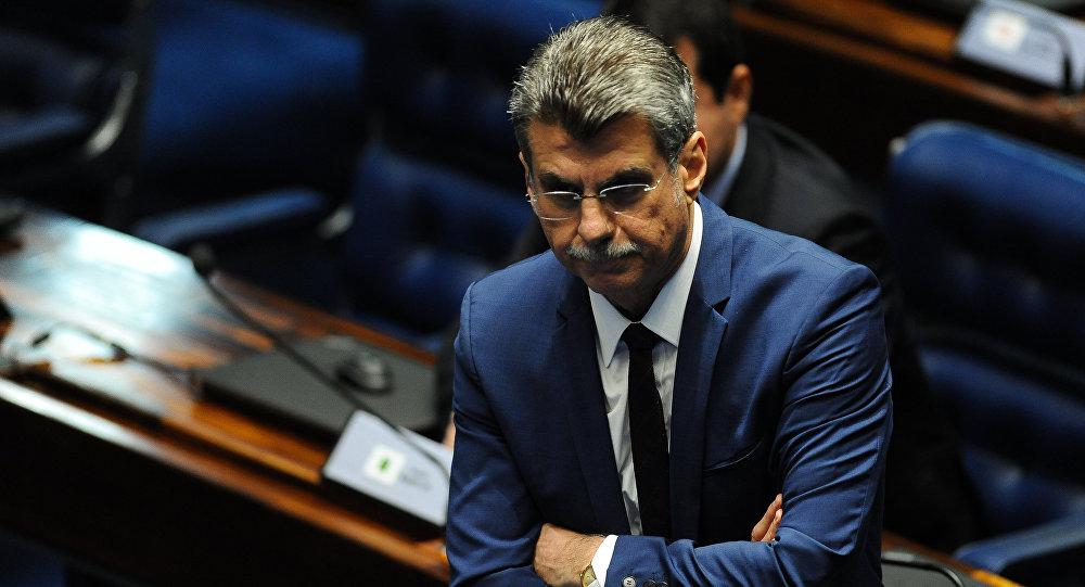 Romero Jucá, jefe del grupo oficialista de Michel Temer en el Congreso Nacional