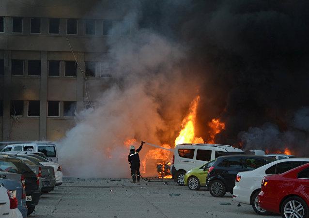 Consecuencias de la explosión en Adana, Turquía