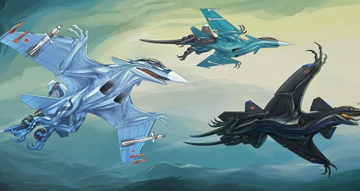 Los aerosaurios insipirados por los aviones SU-33, SU-34 y SU-47