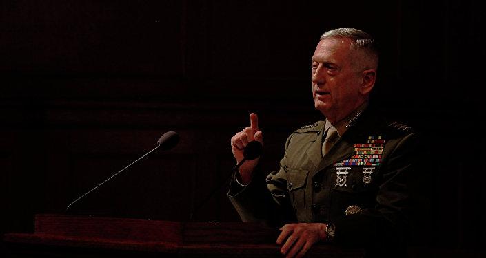 Gen. James Mattis, el exjefe del Mando Central de EEUU