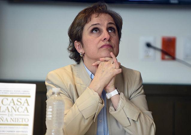 Carmen Aristegui, periodista mexicana
