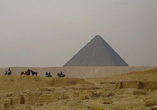 Una pirámide en Egipto