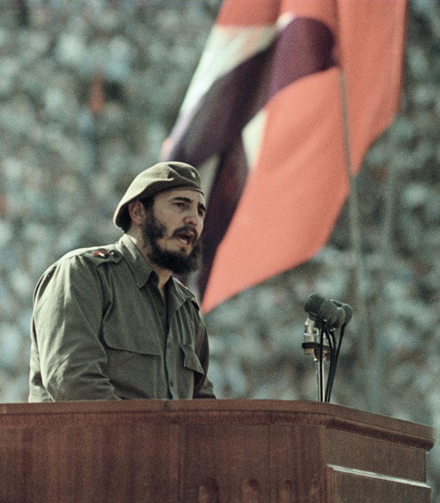 Discurso de Fidel Castro en la Marcha por la Amistad de los pueblos soviético y cubano.