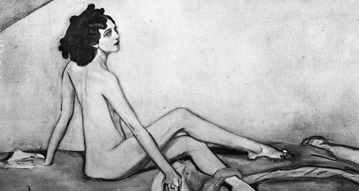 Retrato de Ida Rubinstein. Autor: Valentín Serov