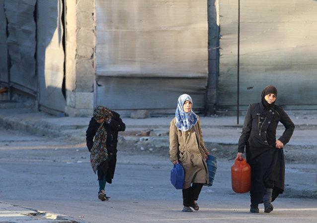 Civiles en Siria (archivo)