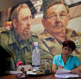 Retrato de Fidel y Raúl Castro