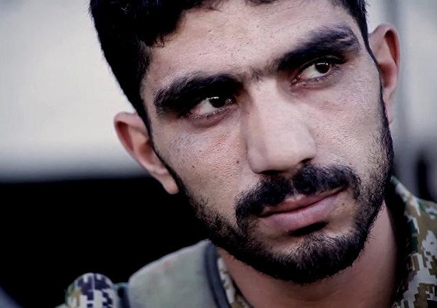 Hamadnur Mahdar, soldado del Ejército de Siria