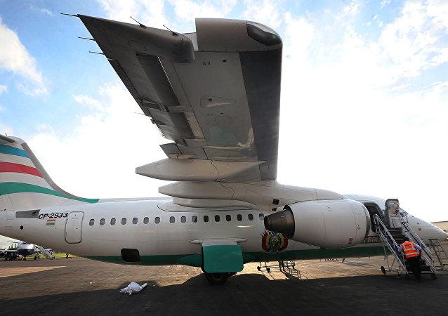 Un avión boliviano de la compañía LaMia