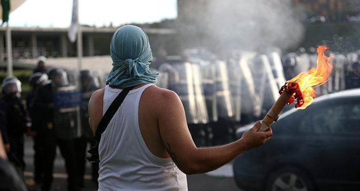 Manifestación en Brasilia