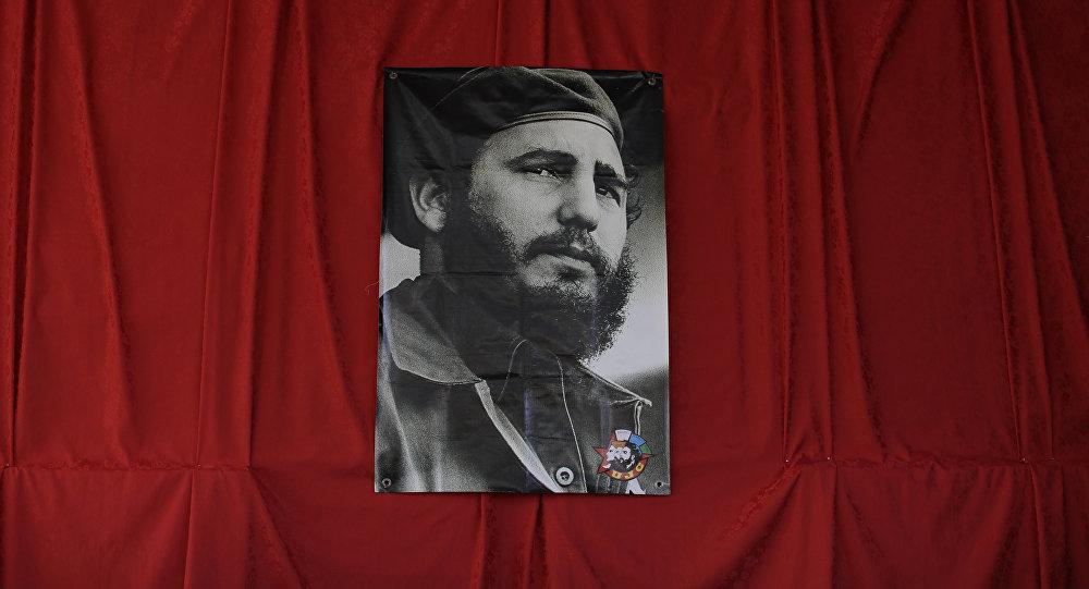 Fotografía de Fidel Castro, líder de la Revolución cubana