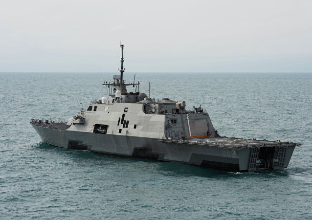 El buque estadounidense USS Fort Worth (LCS 3)