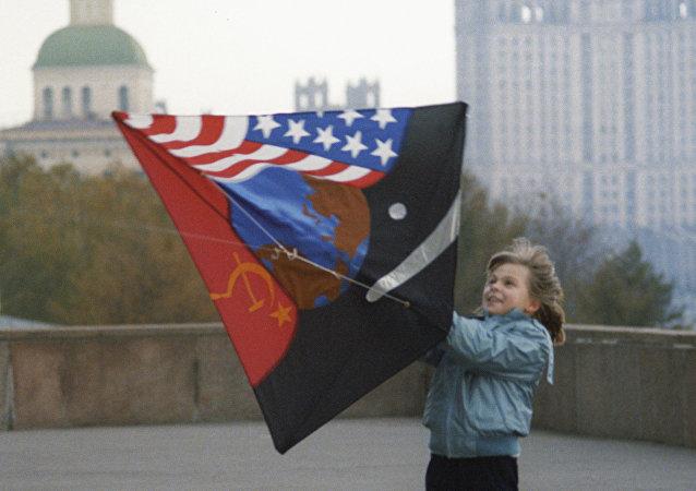 Una cometa símbolo de paz contra la Guerra Fría