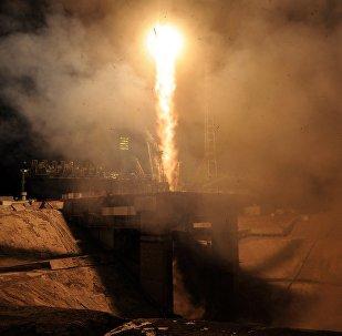 Lanzamiento de un cohete Soyuz