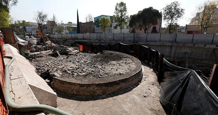 La estructura circular encontrada en Tlatelolco, México