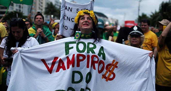 Protestas a favor de la Lava Jato (archivo)