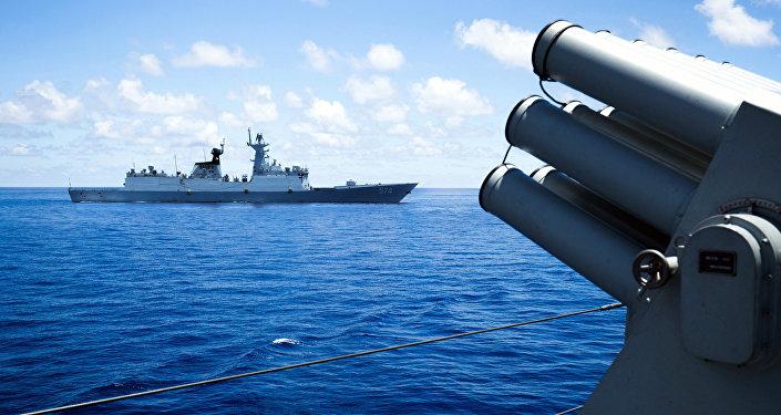 Buques chinos en el Mar del Sur de China