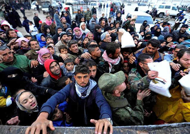 Ayuda humanitaria en Alepo (archivo)