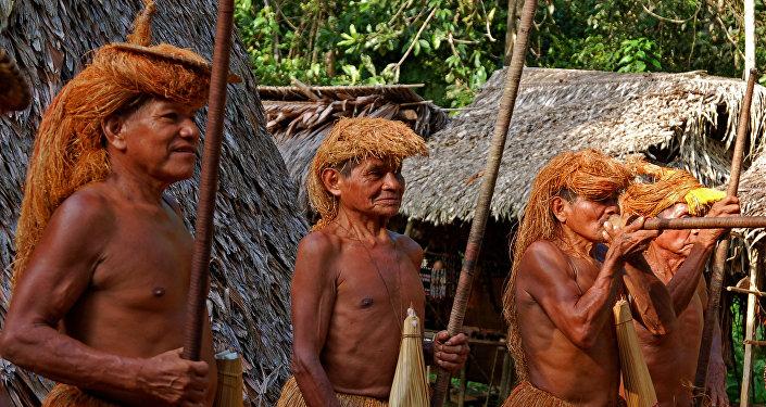La tribu indígena Yagua