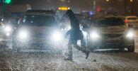 Una nevada enorme cubre de blanco Moscú