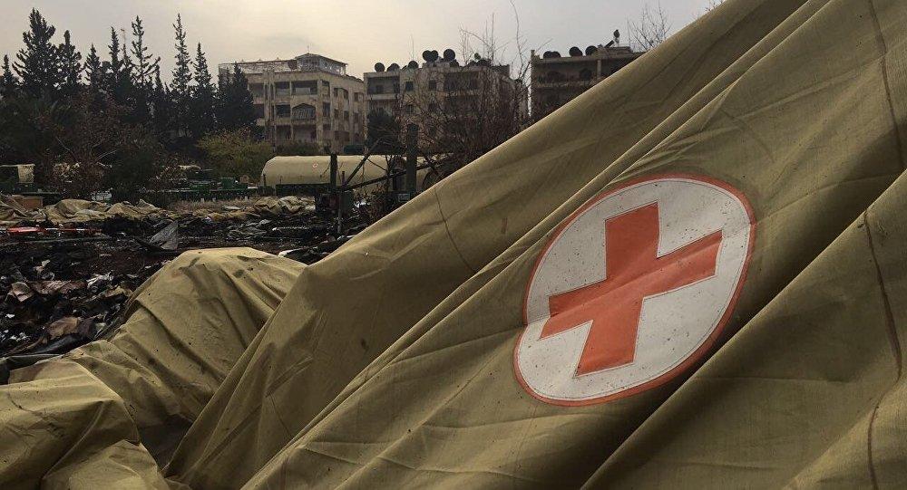 El hospital ruso tras el bombardeo en Alepo