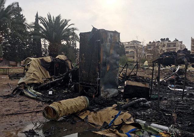 Hospital ruso bombardeado en Siria