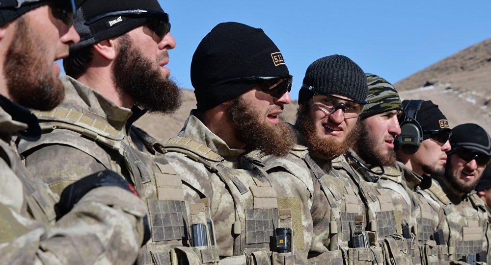 Los miembros de las Fuerzas Especiales chechenas