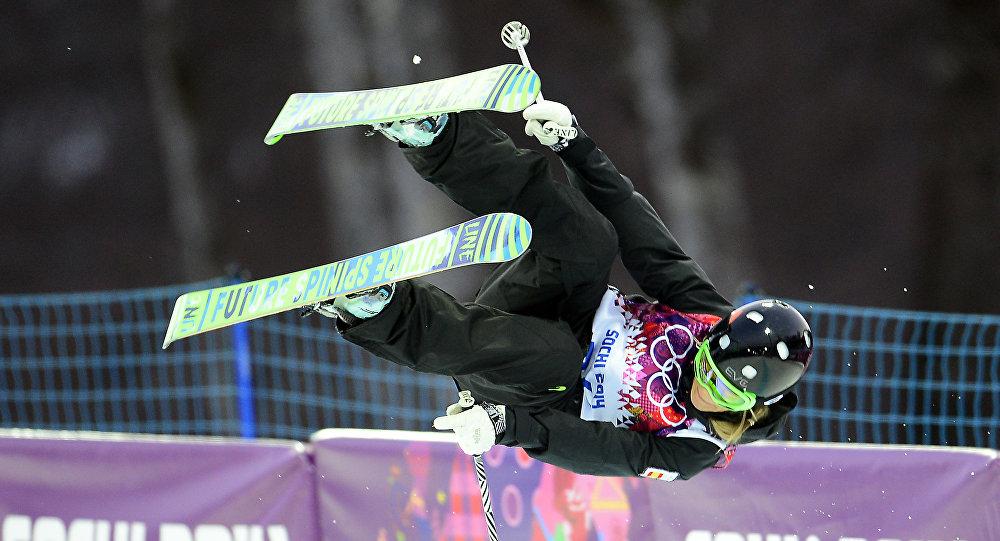 Katia Griffiths, esquiadora española, en los Juegos Olímpicos de Sochi