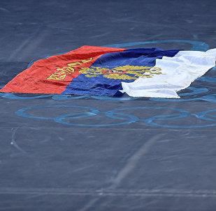 La bandera de Rusia en los Juegos Olímpicos en Río 2016 (archivo)