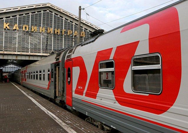 Un tren de la ruta Kaliningrado-Moscú