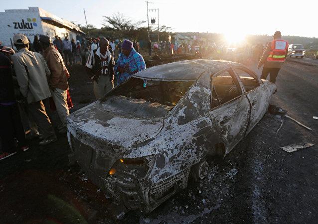 Explosión de camión cisterna en Kenia, 11 de diciembre de 2016