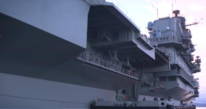 El portaviones Almirante Kuznetsov