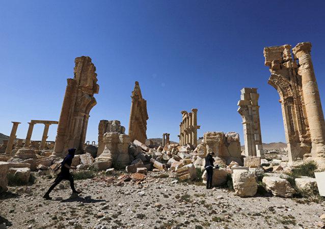 La parte histórica de Palmira, Siria