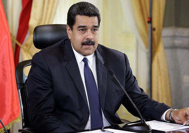 Nicolás Maduro, presidente de VenezuelaPresident Nicolas Maduro speaks during an agreement-signing ceremony between Trinidad and Tobago and Venezuelan state oil company PDVSA at Miraflores Palace in Caracas, Venezuela
