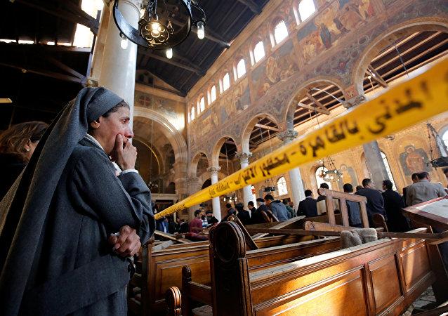 Atentado en una catedral en El Cairo, Egipto