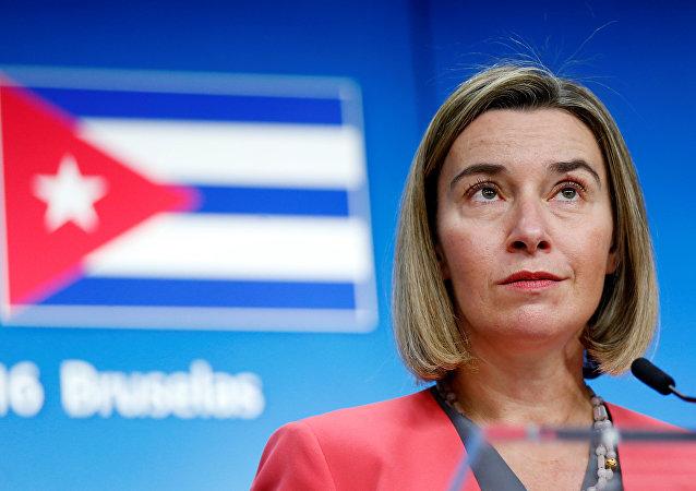 Federica Mogherini, alta representante de la Unión para Asuntos Exteriores y Política de Seguridad de la UE
