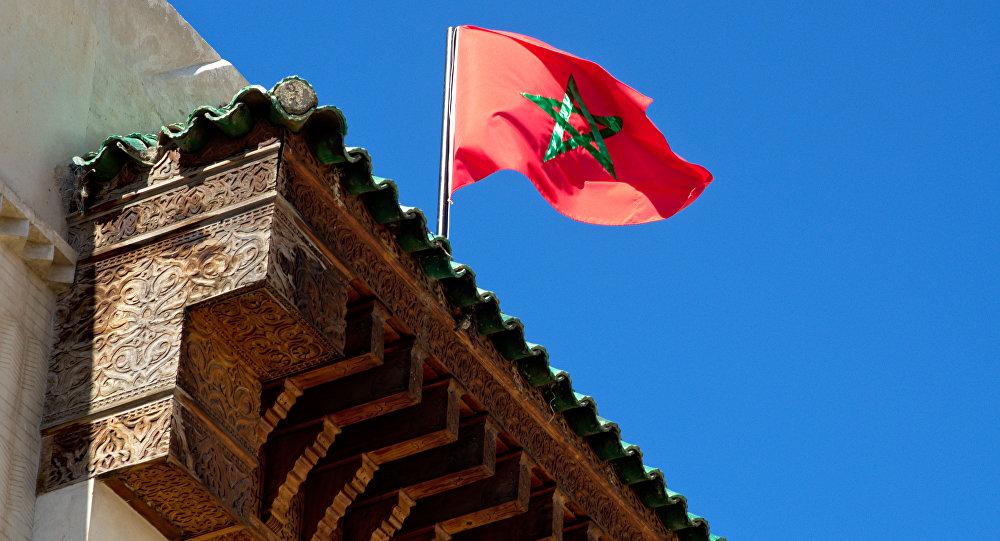 La bandera de Marruecos (archivo)