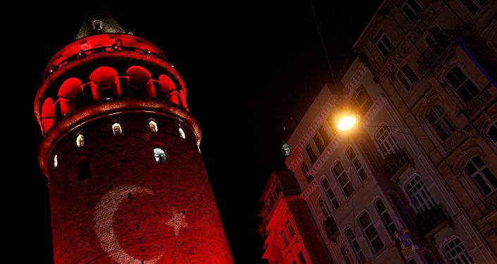 La bandera de Turquía (archivo)