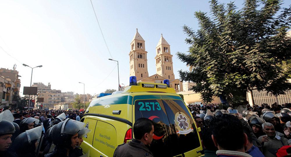 Lugar del atentado en El Cairo